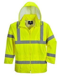 Portwest Waterproof Rain Jacket, Lightweight, Yellow, 2X-Lar