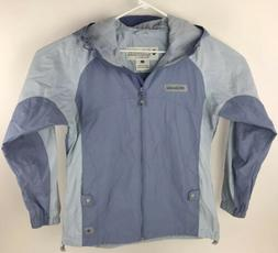 Columbia XCO Womens Medium Blue Vented Full Zip Hood Rain Ja