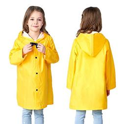 Yellow Kids Raincoat Lightweight Toddler Boy Rain Jacket Doo