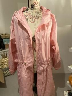 Yours Plus Size 22/24 Baby Pink Light Rain Jacket New
