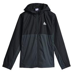 Adidas Youth Tiro 17 Soccer Rain Jacket L Black-Dark Grey-Wh