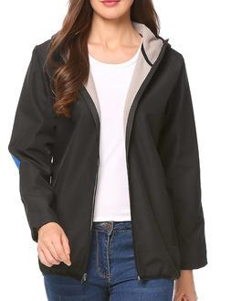 Zeagoo Women's Quick Dry Rain Jacket Lightweight Waterproof