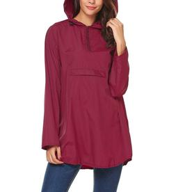 Zeagoo Women's Waterproof Packable Rain Jacket Batwing-Sleev