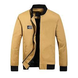 VEZAD Zipper Trench Coat Men Winter Warm Jacket Overcoat Sli